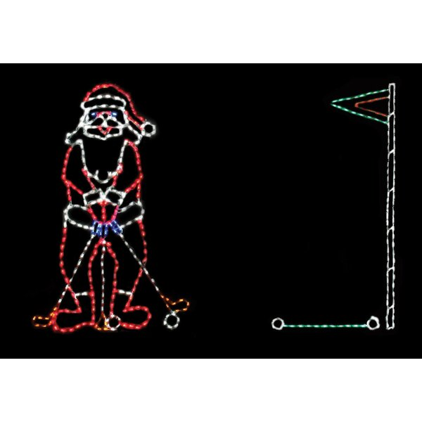 Golfing Santa Scene 375 Light Rope Light by Brite Ideas