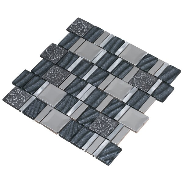 Vitray 12 x 12 Mixed Material Mosaic Tile in Gray by Mirrella