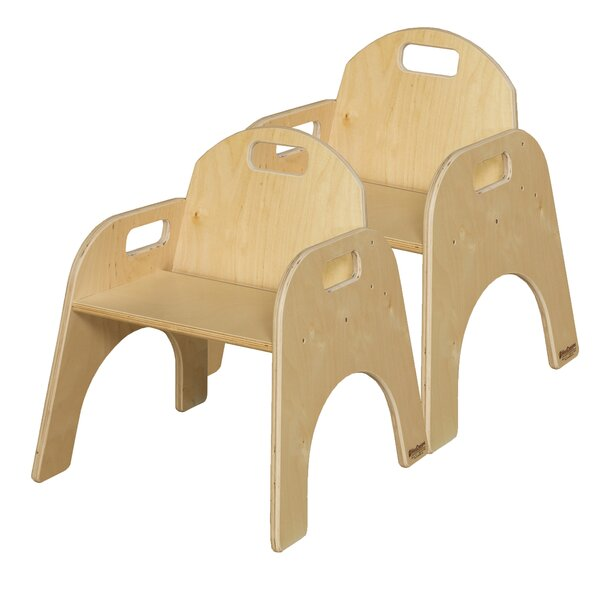 Solid Wood Classroom Chair (Set of 2) by Wood Desi