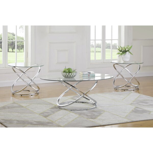 Ilia 3 Piece Coffee Table Set by Orren Ellis Orren Ellis