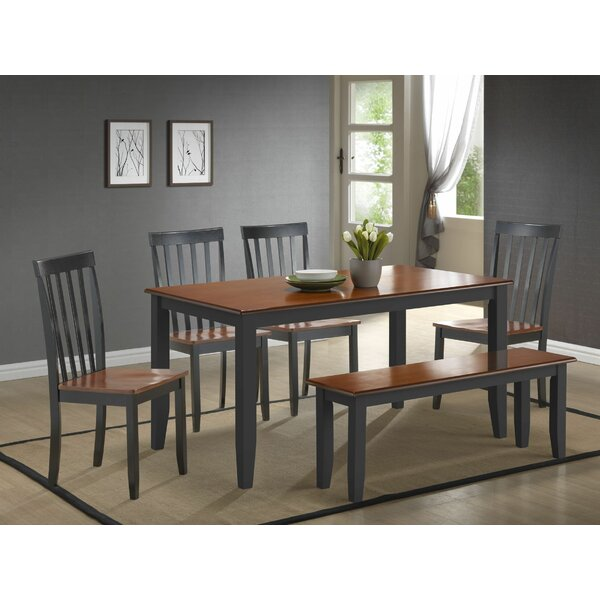Hardcastle Traditional 6 Piece Dining Set by Three Posts
