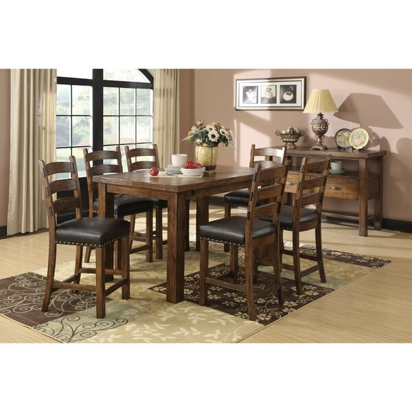 Lyons 9 Piece Counter Height Extendable Dining Set by Loon Peak