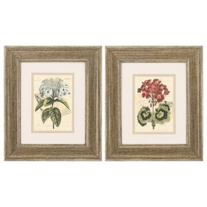 Bouquet III and IV 2 Piece Framed Painting Print Set by Alcott Hill