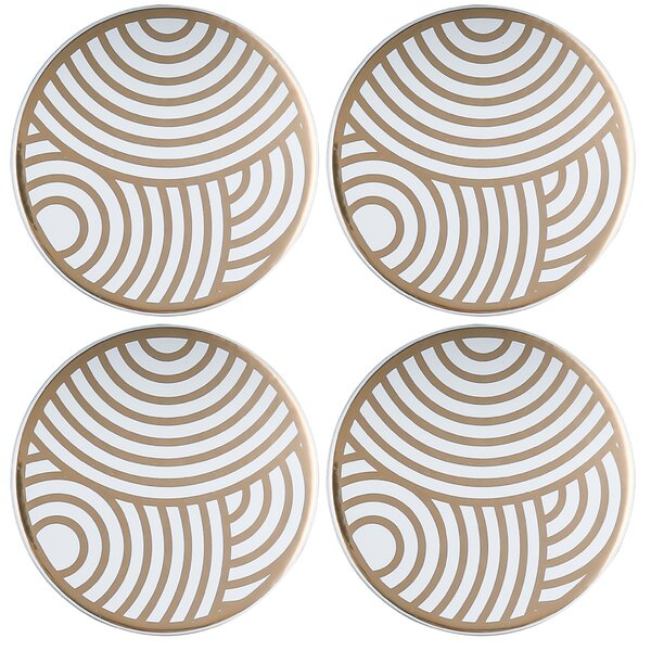 Old Hollywood Round Circles Coaster (Set of 4) by Thirstystone