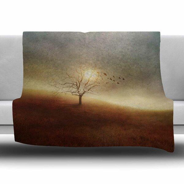 Lone Tree Love I by Viviana Gonzalez Fleece Blanket by East Urban Home