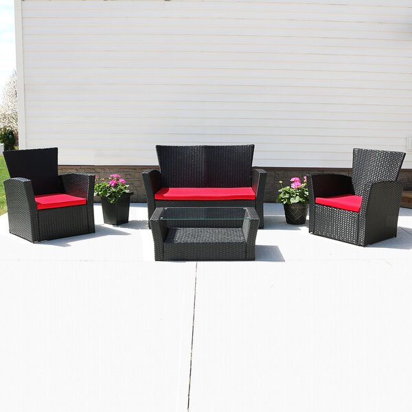 Anissa 4 Piece Sofa Set with Cushions by Freeport Park