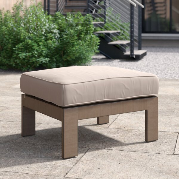 Daly Outdoor Ottoman With Cushion By Foundstone by Foundstone Top Reviews