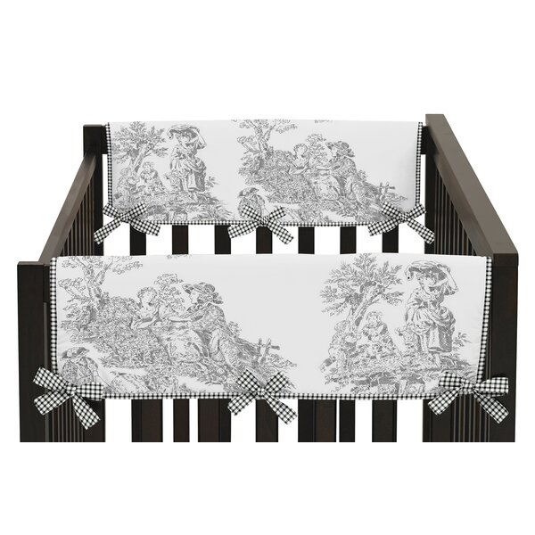 French Toile Side Crib Rail Guard Cover (Set of 2) by Sweet Jojo Designs