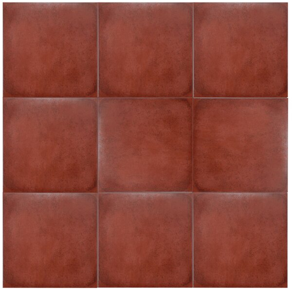 Symbals 14.13 x 14.13 Porcelain Tile in Red by EliteTile