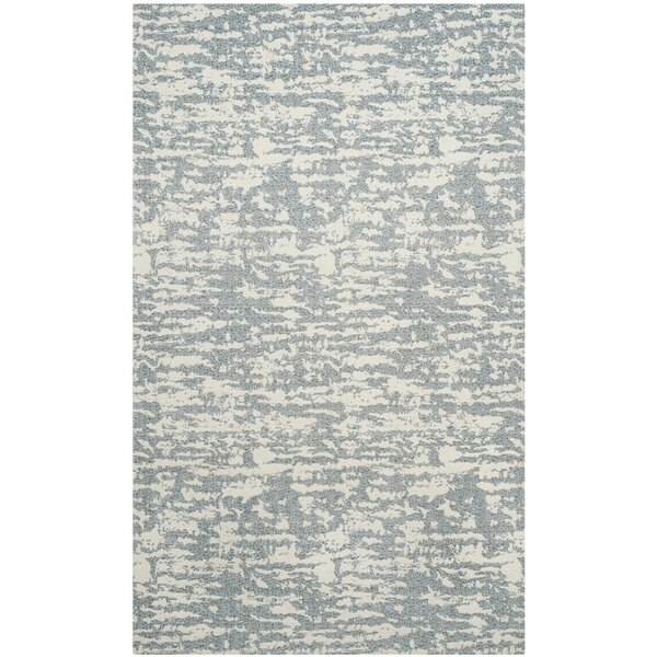 Anika Hand-Woven Beige/Gray Area Rug by Williston Forge