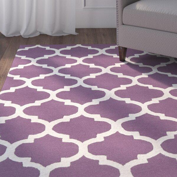 Blaisdell Stella Wool Purple/Ivory Area Rug by Charlton Home
