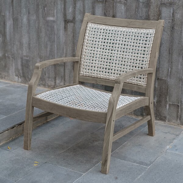 Junious Teak Patio Chair by Foundry Select