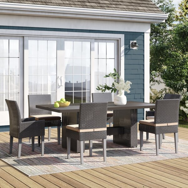 Tegan 7 Piece Dining Set with Cushions