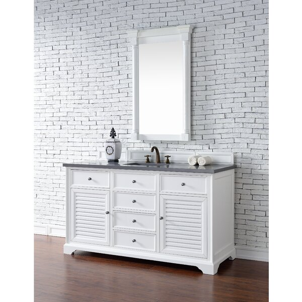 Osmond 60 Single Cottage White Wood Base Bathroom Vanity Set by Greyleigh