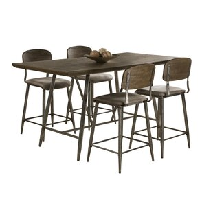 Comparison Georgia 5 Piece Counter Height Dining Set By 17 Stories