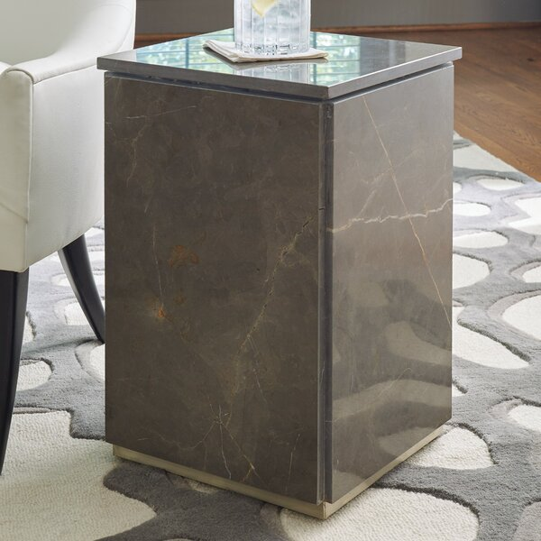 Graffito Marble End Table By Global Views