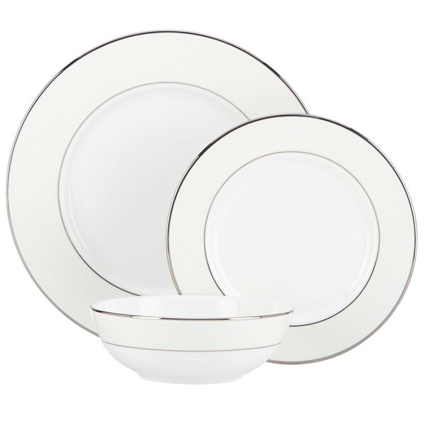 Opal Innocence 5 Piece Stripe Bone China Place Setting, Service for 1 by Lenox