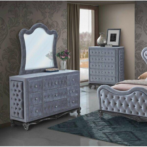 Jamison Arched Dresser Mirror by Rosdorf Park