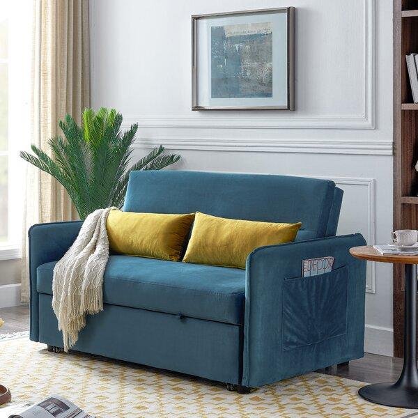 Velvet 57'' Square Arm Sofa Bed by Latitude Run Latitude Run