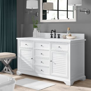 Inexpensive Osmond 60 Single Cottage White Stone Top Bathroom Vanity Set By Greyleigh