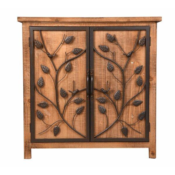 Haas Metal Frame 2 Door Accent Cabinet