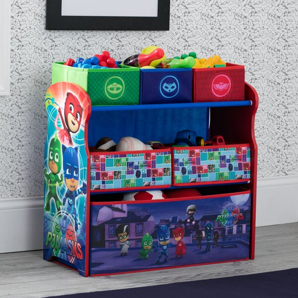 Pj Masks Multi Bin Toy Organizer By Delta Children.