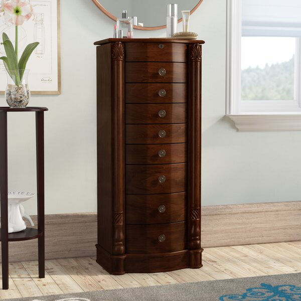 Zakhar Free Standing Jewelry Armoire with Mirror b