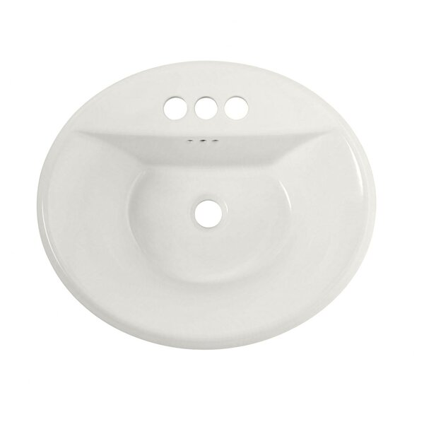 Tropic Ceramic Circular Drop-In Bathroom Sink with Overflow by American Standard
