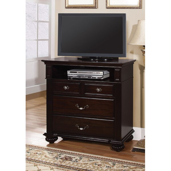 Wesleyan 4 Drawer Media Chest by Astoria Grand