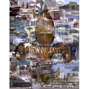 New Orleans by Giesla Graphic Art on Wrapped Canvas by Hadley House Co