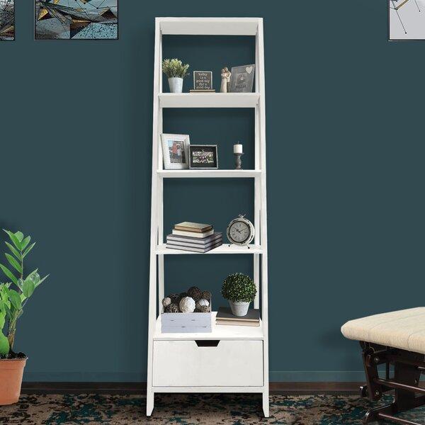 Ajani 4 Shelf Wooden Ladder Bookcase By Latitude Run