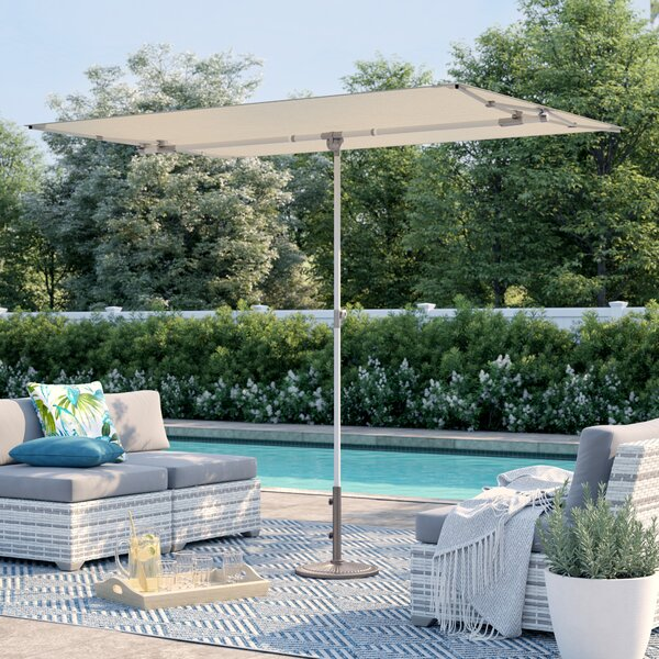 Cordelia 5' X 7' Rectangular Market Umbrella by Sol 72 Outdoor