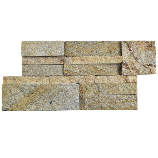 Piedro 7 x 13.5 Natural Stone Splitface Tile in Beige/Gray by EliteTile