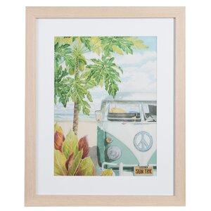'VW Van At The Beach' Framed Print by Nielsen Bainbridge