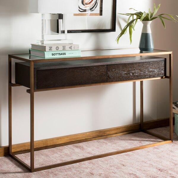 Lees Oak Console Table by Brayden Studio