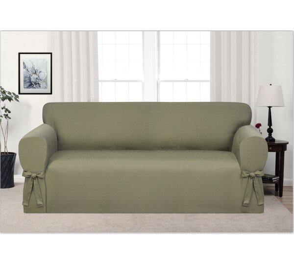 Box Cushion Sofa Slipcover by Ophelia & Co.