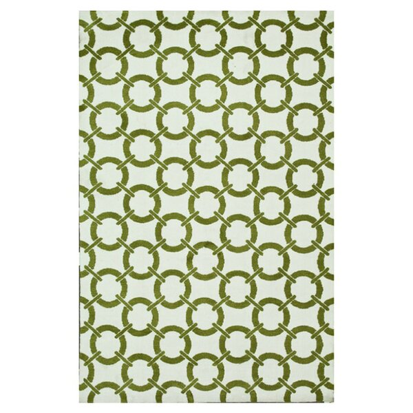 Dane Green/Ivory Area Rug by Wrought Studio