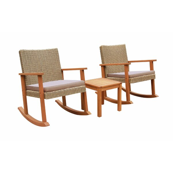 Homewood 3 Piece Seating Group with Cushions by Highland Dunes