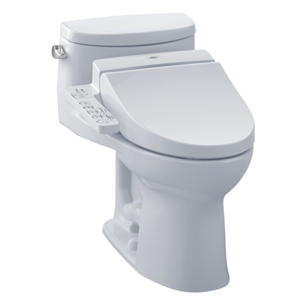 Supreme 1.28 GPF (Water Efficient) Elongated One-Piece Toilet (Seat Included) by Toto