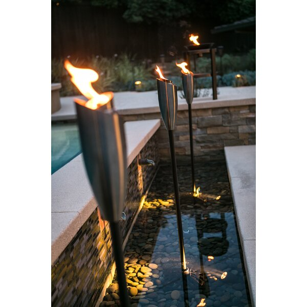 Stainless Steel Garden Torch By Tiki Brand.