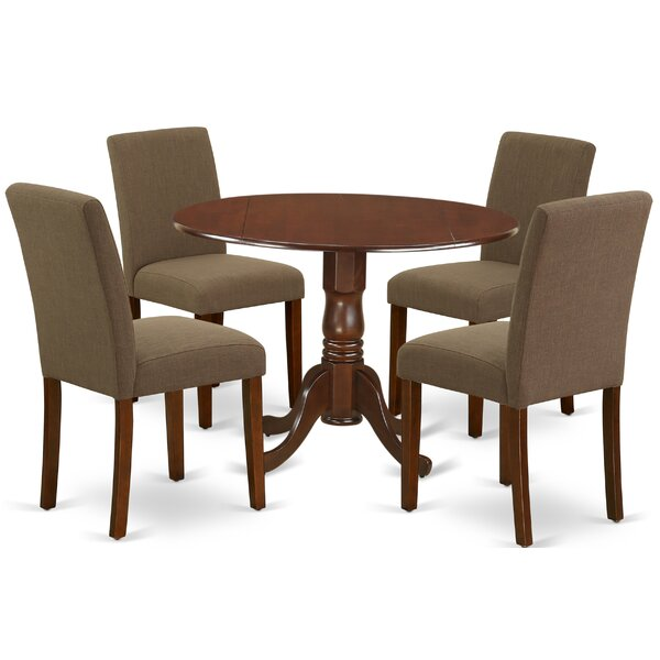 Schlemmer 5 Piece Drop Leaf Solid Wood Dining Set By Charlton Home