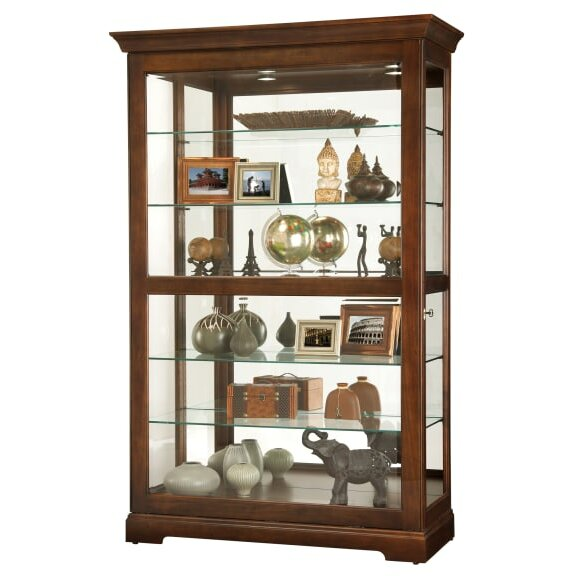 Brew Lighted Curio Cabinet by Darby Home Co