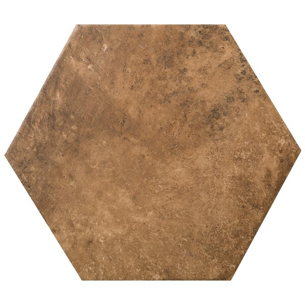 Newberry Hexagon 10 x 11 Porcelain Field Tile in Cotto by Emser Tile