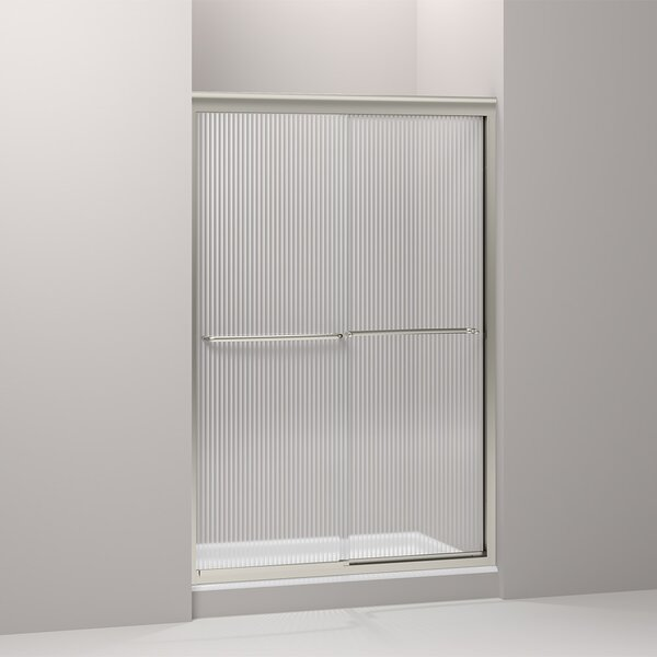 Fluence 47.63 x 70.31 Bypass Shower Door with CleanCoat® Technology by Kohler