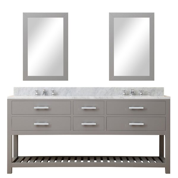 Berghoff 60 W Double Sink Bathroom Vanity Set with Mirror by Andover Mills
