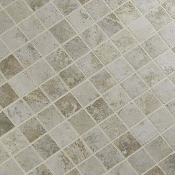 Navona 2 x 2 Porcelain Mosaic Tile in Gray by MSI