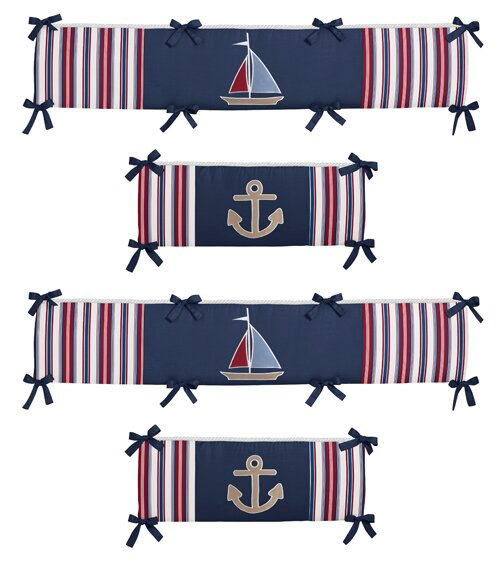 Nautical Nights Crib Bumper by Sweet Jojo Designs