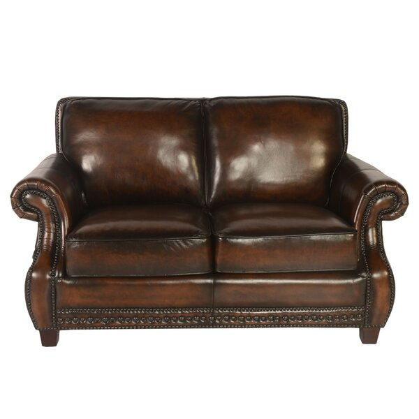 Moreno Leather Loveseat by Canora Grey