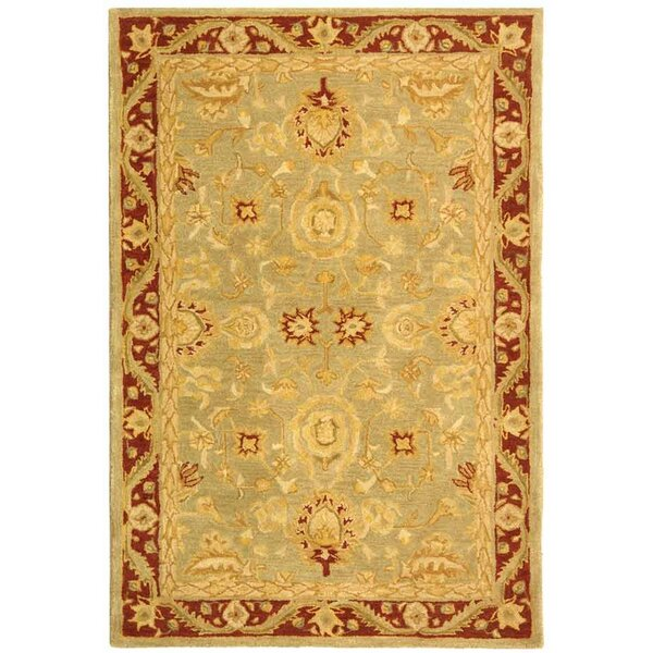 Anatolia Light Green/Red Area Rug by Safavieh