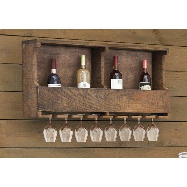 Bosworth 8 Bottle Wall Mounted Wine Bottle and Glass Rack by Trent Austin Design Trent Austin Design